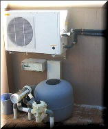 heat pump and pool filtration system