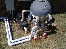 pool filter pump and chlorinator